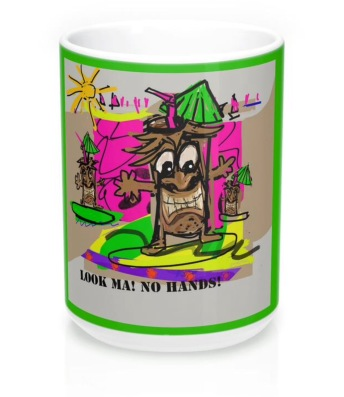 Surf's Up With Tiki Guy coffee mug.