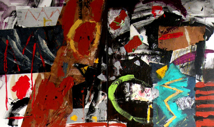 """Jungle Heat"" by Janis Kirstein, Mixed Media on stretched canvas, 32x48in, 2017, $2000"